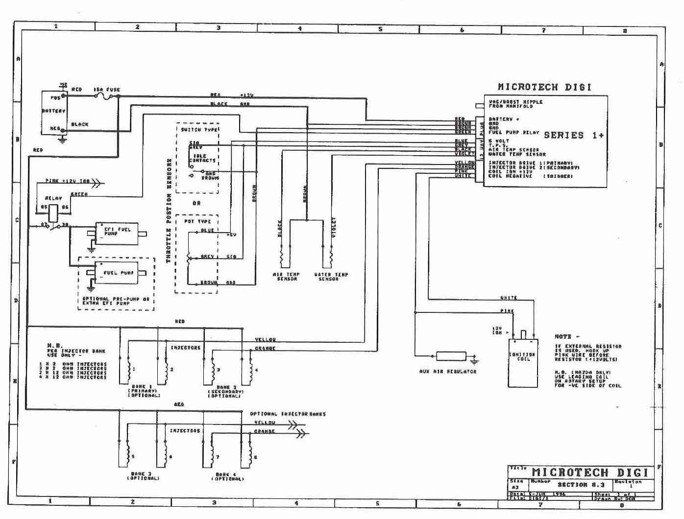 microtech Digi1 pauls series 2 rx7 car service & problem history 1989 mazda rx7 wiring diagram at honlapkeszites.co